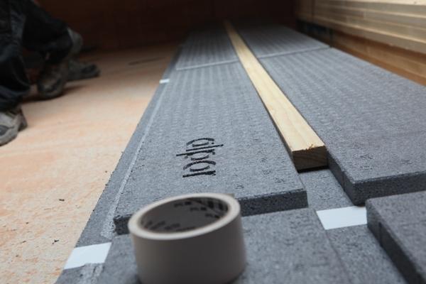 Vorgefertigte Ausnehmungen für Dachlatten