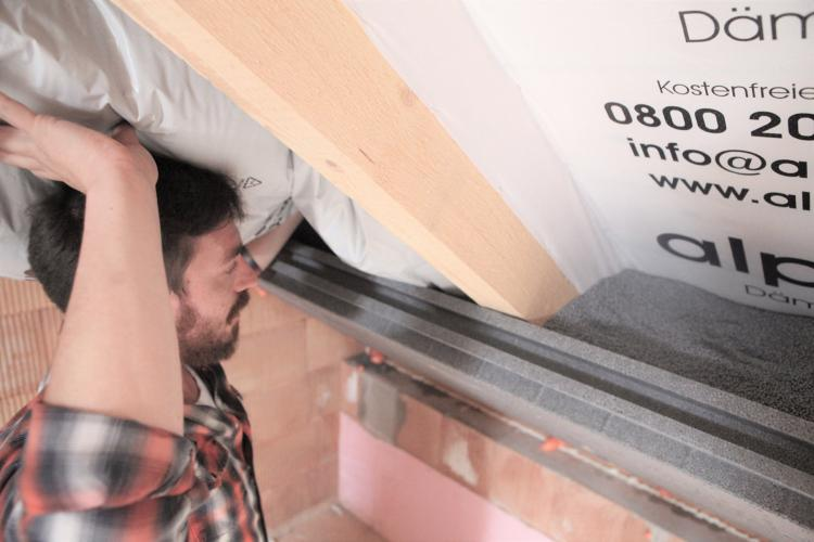 Wärmedämmung für Steil- und Pultdächer, Neubau oder neues Dach